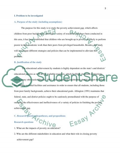 Poverty and students achievement essay example
