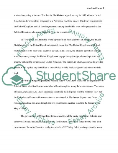 united arab emirates essay example The history of the united arab emirates essay writing service, custom the history of the united arab emirates papers, term papers, free the history of the united arab.