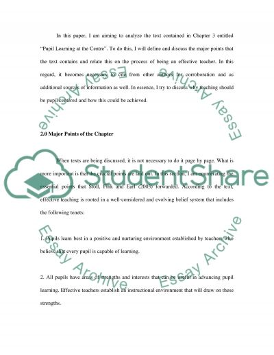 Effective Teaching Thru Being Pupil Centered essay example