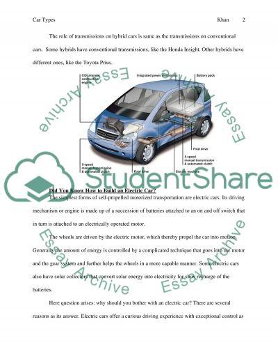 Cars essay example