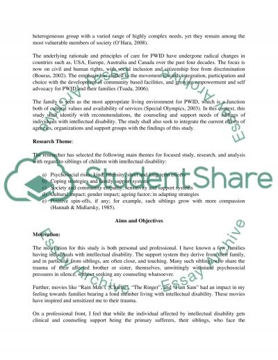 Children with Intellectual Disability essay example