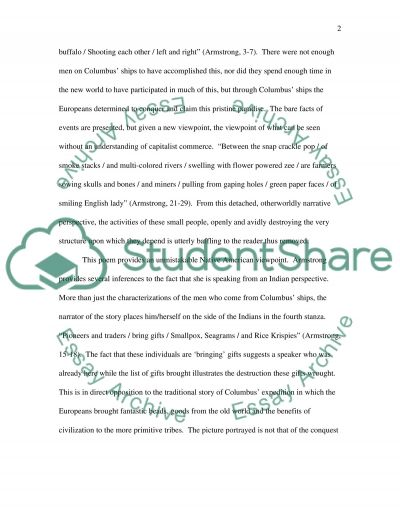 Poetry explication/analysis essay example