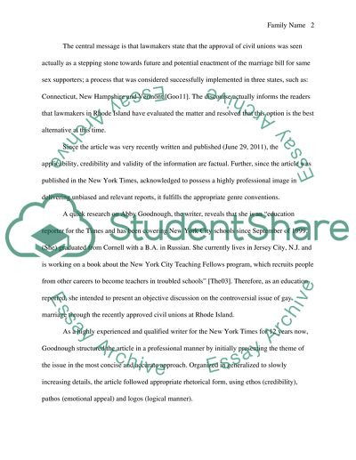 Gay Marriage Essay Example  Topics And Well Written Essays   Words Gay Marriage Essay Essays On Science Fiction also Writing A Proposal Essay  Write Report For Me