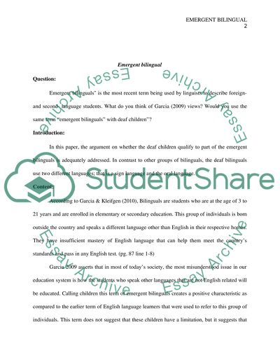 The Importance Of Learning English Essay Emergent Bilingual  Essay Example Thesis Statement For Analytical Essay also Research Proposal Essay Topics Emergent Bilingual Essay Example  Topics And Well Written Essays  Terrorism Essay In English