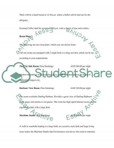 CASE STUDY Plan a Major Event essay example