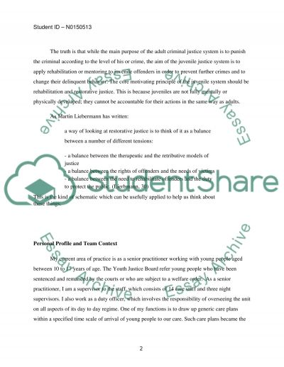 Implentation of effective youth justice practice essay example