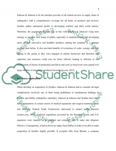 Merger and Acquisition essay example