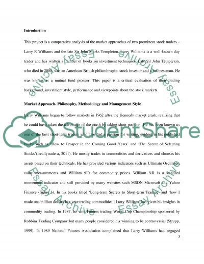Overview to the Markets essay example