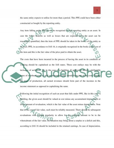 IAS 16 and IAS 40(International Accounting Standards) essay example
