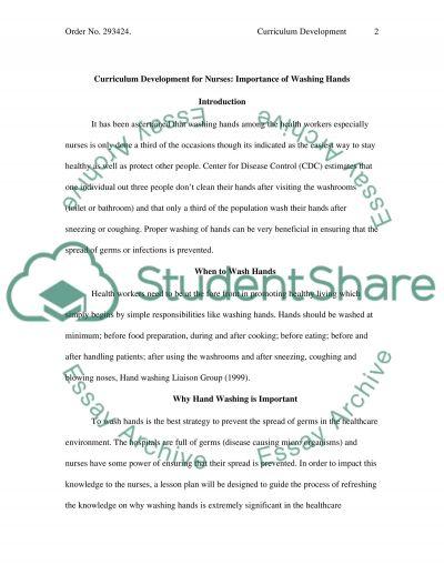 Curriculum Development Paper essay example