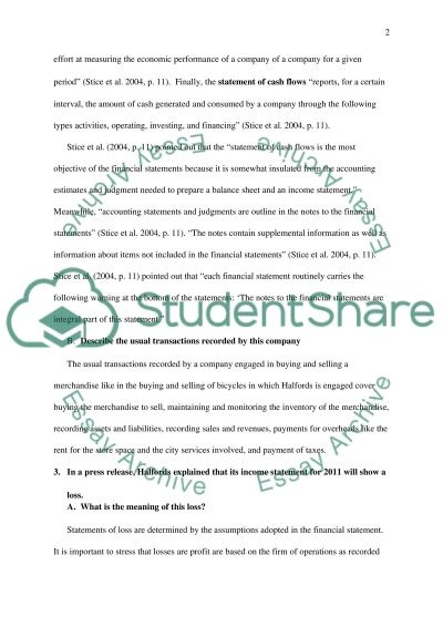 Assignment for Business Economics and Finance essay example