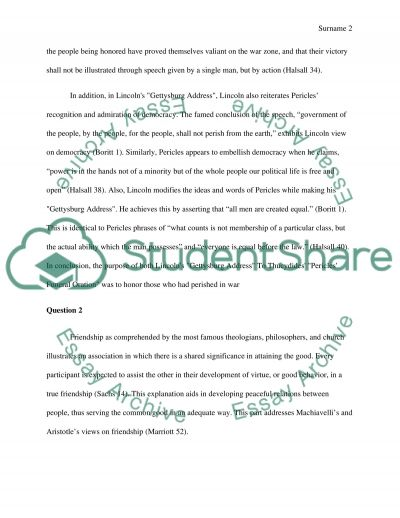 Two Questions essay example