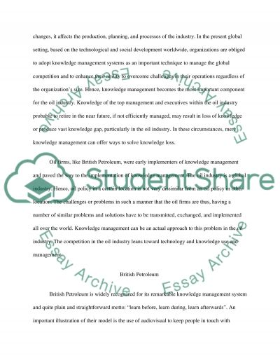 LEADING KNOWLEDGE MANAGEMENT FOR ORGANISATIONAL LEARNING essay example