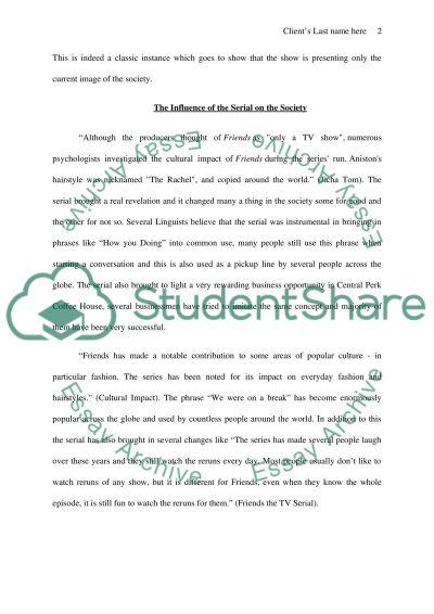 TV Serial Friends essay example