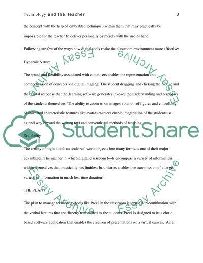 Technology and the Teacher