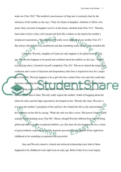 the joy luck club novel essay example - Novel Essay Example