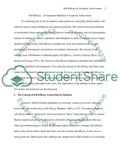 Short English Essays Self Efficacy And Academic Achievement How To Write A Essay For High School also Content Writing Services Us Self Efficacy And Academic Achievement Essay Example  Topics And  Narrative Essay Example For High School