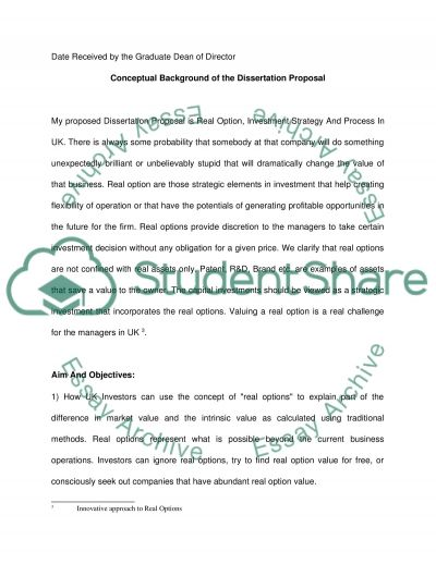 Real Option and Investment in UK essay example
