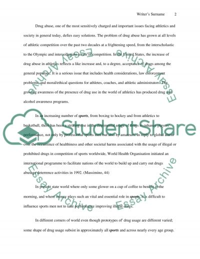 Use And Abuse Of Drugs In Sports essay example