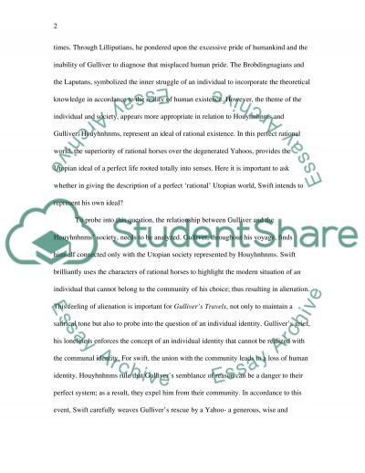 individual and society in swift s gulliver s travels essay individual and society in swifts gullivers travels essay example