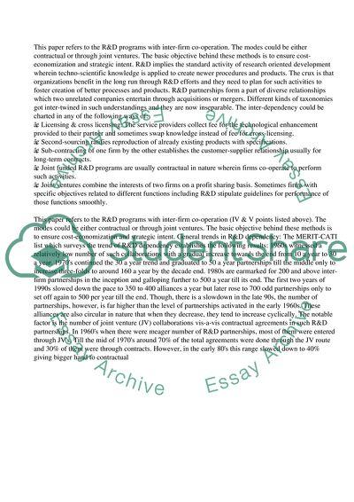 Contractual Agreements Vs Joint Ventures