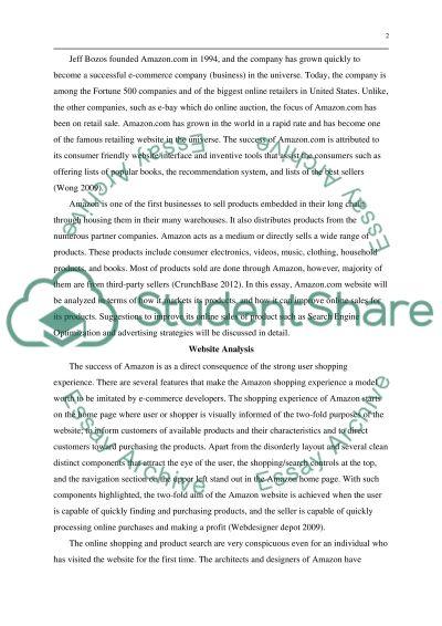 E-marketing essay example