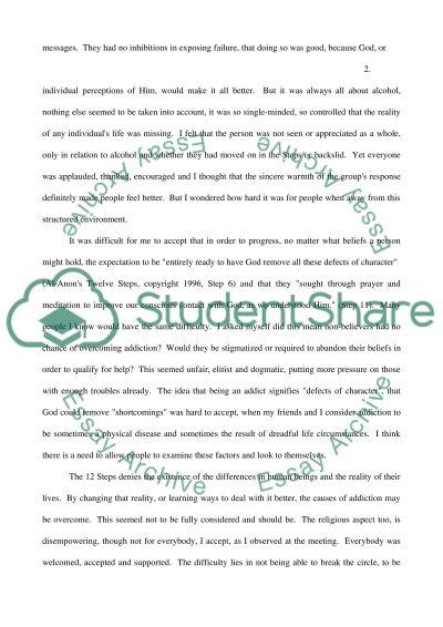 12 Steps Programs - Help or Hinder essay example