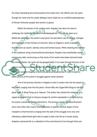 Maya Angelou Research Paper