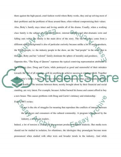 Cultural studies project on Media essay example