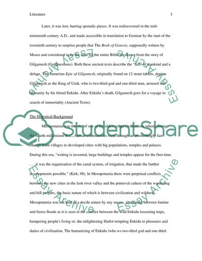 Frankenstein Essay Thesis Gilgamesh Universal Health Care Essay also Essays Topics In English Gilgamesh Essay Example  Topics And Well Written Essays   Words Thesis Example For Compare And Contrast Essay