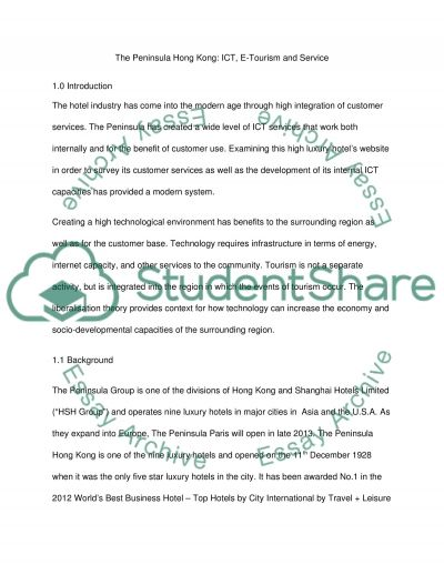 The Peninsula Hong Kong: ICT, E-Tourism and Service essay example