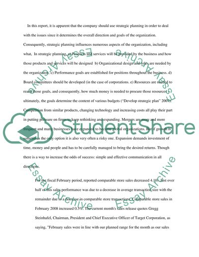 Target Background Research Paper