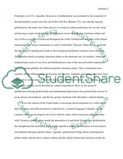 How does globalization affect cultural imperialism and communities in regard to immigration essay example