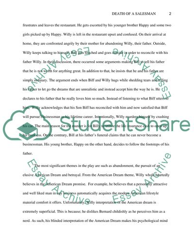 Extended Essay Topics English Death Of A Salesman  Essay Example Barack Obama Essay Paper also Thesis Statement Examples For Essays Death Of A Salesman Essay Example  Topics And Well Written Essays  Thesis Of A Compare And Contrast Essay