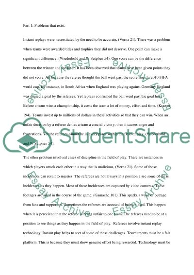 Should the instant replay used in the NFL be applied to other sports essay example
