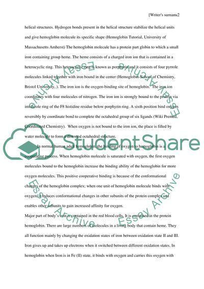 Biological Oxygen Transport essay example