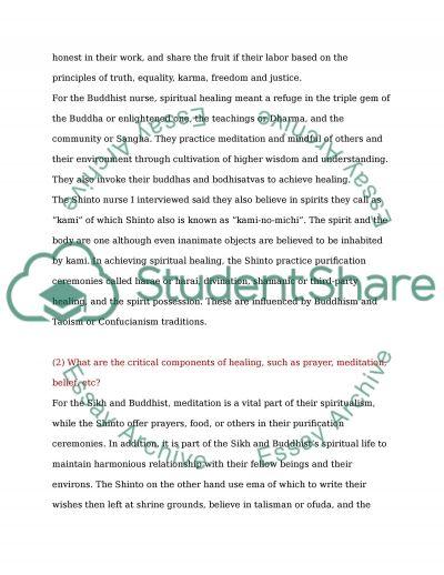 Health Care Provider and Faith Diversity essay example