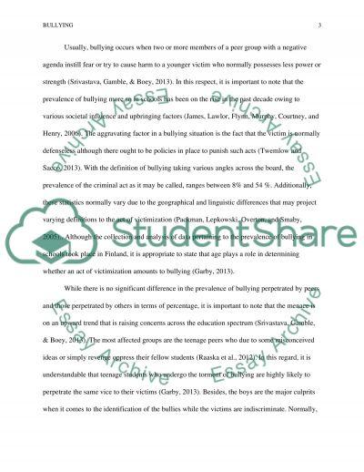Bullying in School children