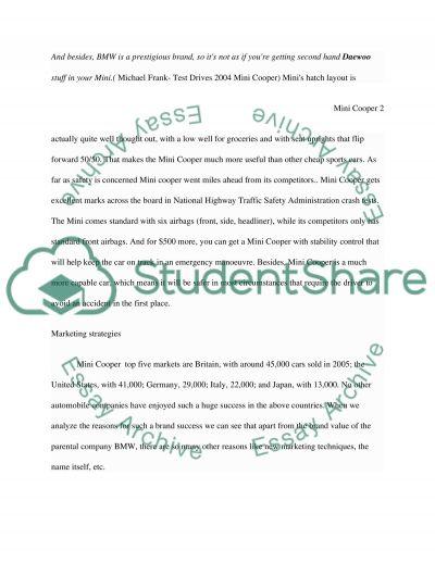 MINI Cooper essay example