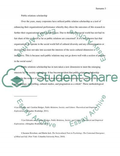 Socio-Cultural Turn in Public Relations Scholarship