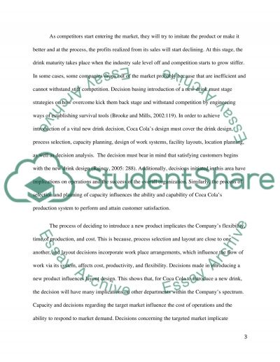 research paper on coca cola company Check this research paper sample on legal issues and coca-cola our professional writers can help you with a research paper on any topic.