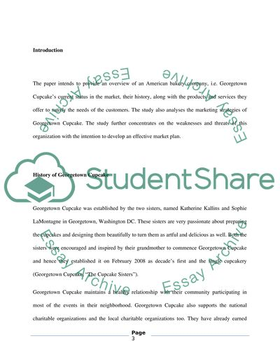 Georgetown Cupcake Essay Example Topics And Well Written Essays 2500 Words
