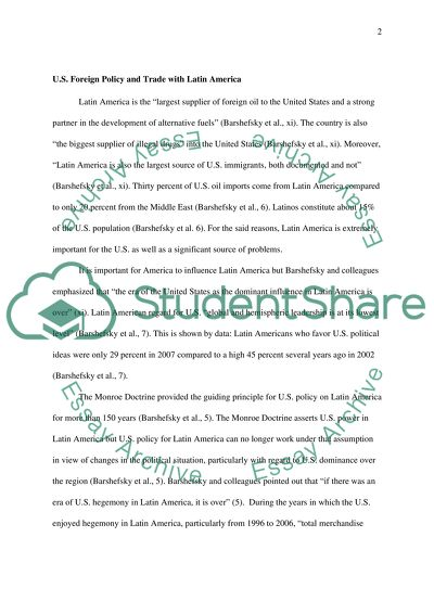Essay Proposal Outline Us Foreign Policy And Trade Research Paper Essays also Compare And Contrast Essay Papers Us Foreign Policy And Trade Essay Example  Topics And Well  Business Essay Format