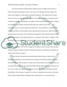 Model of Family Therapy Essay example