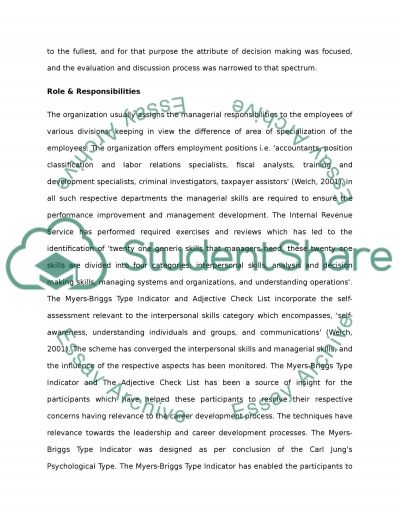 Perfomance Improvement Managment Development & Creativity essay example