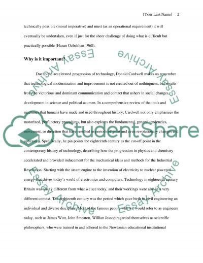 Philosophy and Technology Essay essay example