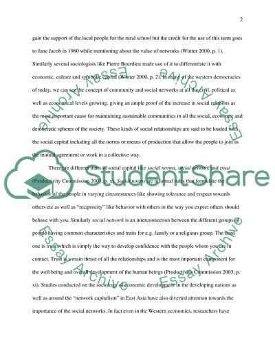 Social Capital Essay Example  Topics And Well Written Essays    Read Textpreview Tco Writing Service also Essay On Library In English  Essay About Learning English Language