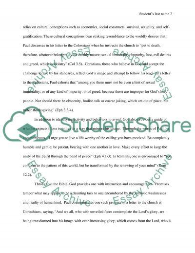 Godly Purpose essay example