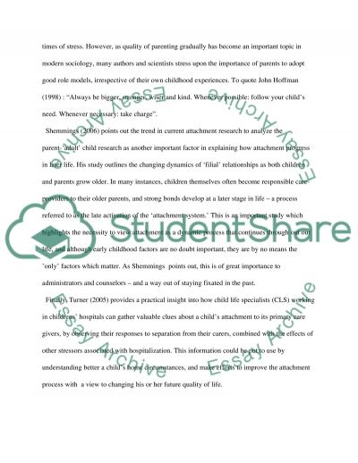 Attachment Theory Essay essay example