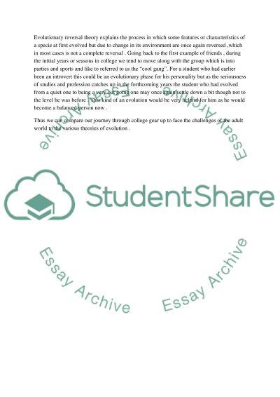 College Life Student essay example